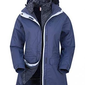 Mountain Warehouse Glacial Womens 3 in 1 Waterproof Jacket - Taped Seams Triclimate Jacket, Breathable, Detachable Hood Winter Coat - for Holidays, Hiking, Travelling