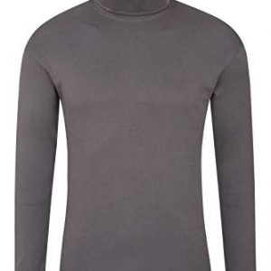mountain warehouse meribel mens thermal baselayer top - combed cotton sweater, roll neck jumper, breathable, quick drying & fitted sleeves - for everyday winter use