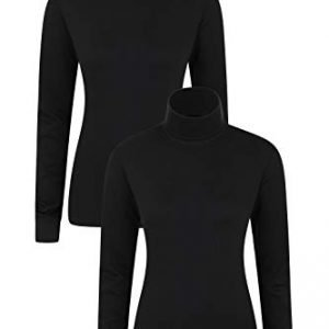 mountain warehouse meribel womens roll neck top - 100% combed cotton thermal baselayer, breathable, lightweight, quick drying with fitted sleeves - ideal for winter