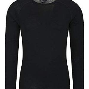 mountain warehouse merino mens long sleeve thermal baselayer top - lightweight jumper, warm, antibacterial & quick drying sweatshirt - great for winter