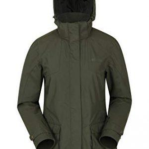 Mountain Warehouse Shetland Womens Waterproof Parka Jacket - Taped Seams Ladies Rain Jacket, Breathable Coat, Storm Flap, Adjustable - Best for Hiking, Outdoors, Walking