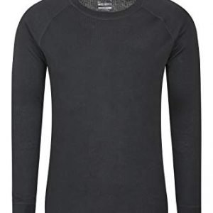 mountain warehouse talus mens thermal baselayer top - quick drying winter jumper, easy care, long sleeves, sweater, breathable, lightweight & high wicking