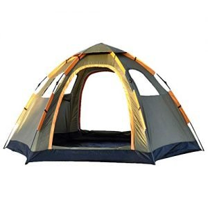 Pop Up Family Camping Tent 4 Person Portable Instant Tent Automatic Tent Waterproof Windproof for Camping Hiking Mountaineering 120 * 94 * 57 inches