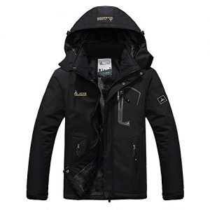 R RUNVEL Womens Waterproof Ski Jacket Windproof Winter Coats with Hood