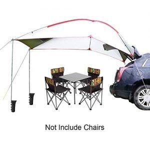 TentHome Trailer Awning Portable Waterproof Car Awning Canopy Tent Sun Shelter for Outdoor Camping Picnic Beach