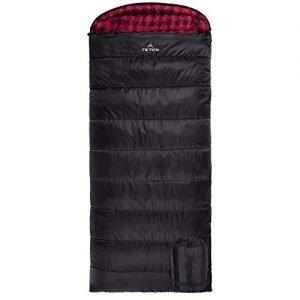 teton sports unisex's 18 degree c flannel lined left zip teton sports-18 sleeping bag-blue