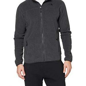 the north face 100 glacier men's outdoor fleece jacket available in tnf dark grey heather - 2x-large