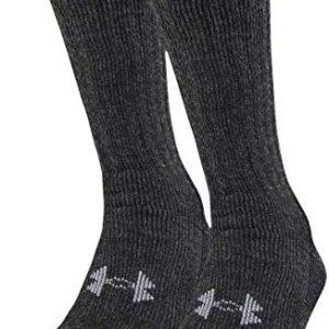 under armour men's coldgear boot socks (2 pair)