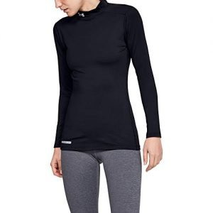 under armour women's coldgear mock fitted long sleeve running top