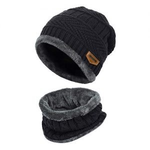 vbiger warm knitted hat and circle scarf skiing hat outdoor sports hat sets