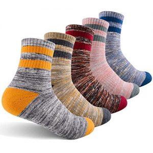 women's walking hiking socks, feideer multi-pack outdoor recreation socks wicking cushion crew socks