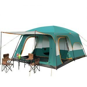 ZHONGXIN Family Dome Tent with 2 Sleeping Cabins, Camping Tent Waterproof Double Layer Fishing Hunting Tent 8 to 12 Man, for Outdoor, Hiking Mountaineering Travel