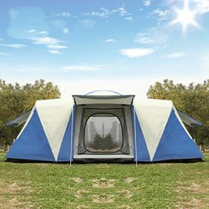ZXCVBW Oversized 8-12 people double waterproof strong camping tent family tent tent party three room multi-person outdoor